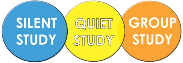 images of silent, quiet, and groyp study zone circles