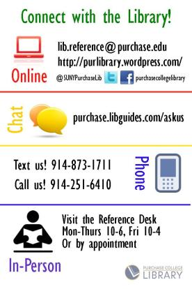 flyer with all the library's ask us services. see text of blog for the same info