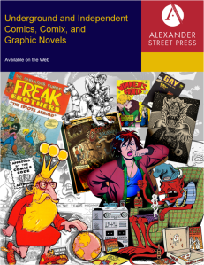 Underground & Independent Comics, Comix, and Graphic Novels