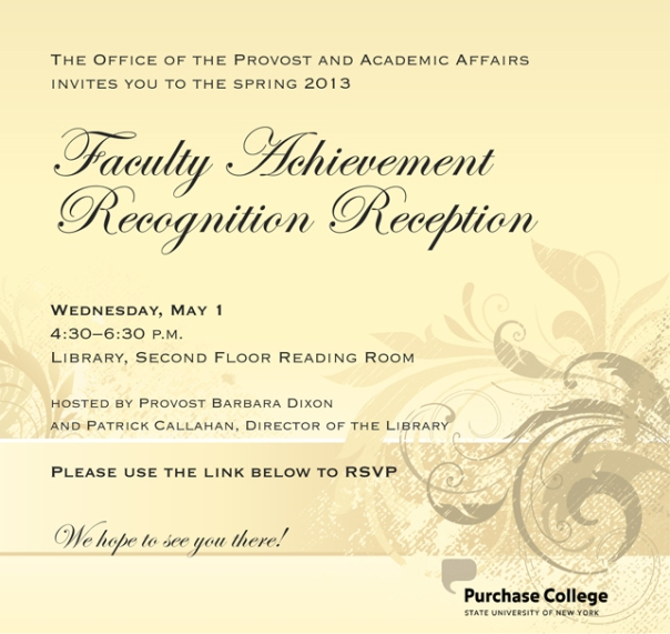 poster for faculty achievement reception