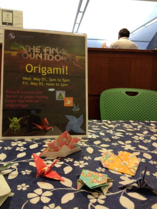 origami hat, crane, frog, & heart