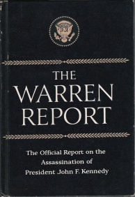 cover image for the Warren Commission's report on JFK assassination