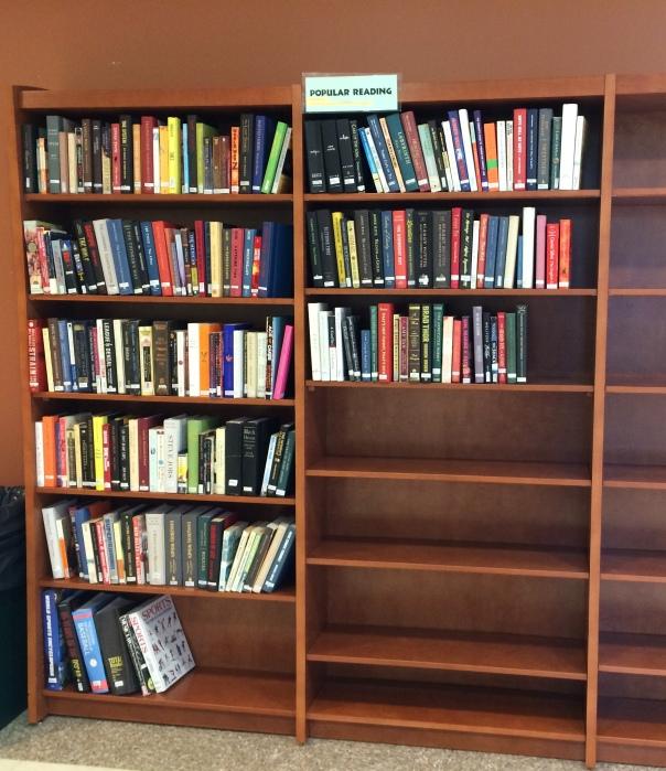 photo of new popular reading shelves