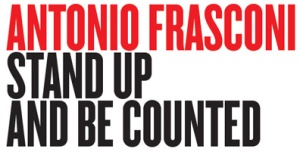 Antonio Frasconi Stand Up and Be Counted  logo