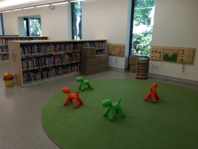 Story-time area at HPL