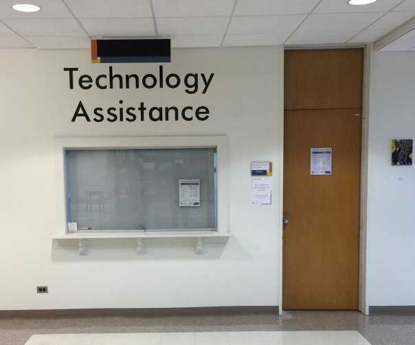 image of window and door for technology assistance office