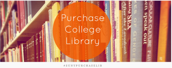 purchase college library's tumblr banner: bookshelf with our name
